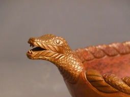 Copper snake head detail