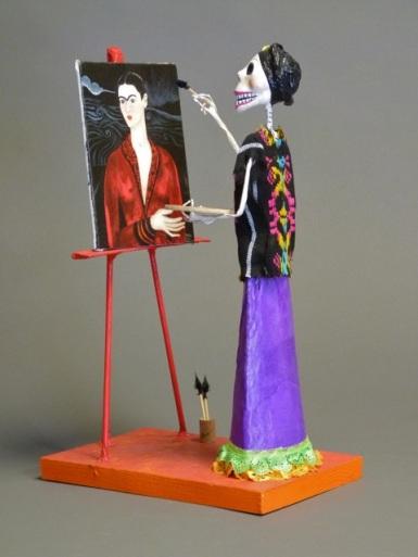 Frida Painting Herself