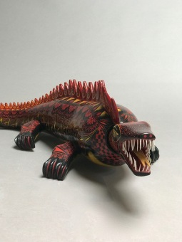 Painted wood Cocodrile