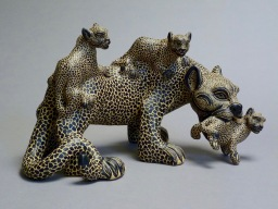 Jaguar and her cubs