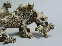 Jaguar and her cubs