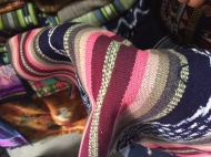 Fabric up close. Panajachel, Guatemela