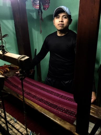 Francisco at his loom