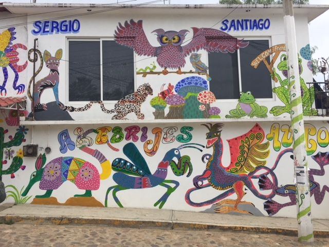 Painted Building. Arrozolo, Oaxaca