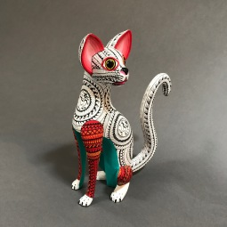 Wildcat Carved and painted wood