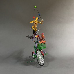 Circus bike Sculpted wire