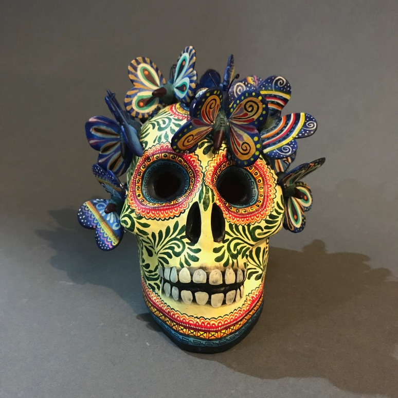 Skull with butterflies