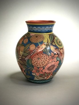Flowers and birds vase