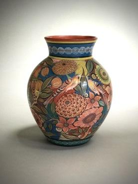 Flowers and birds vase