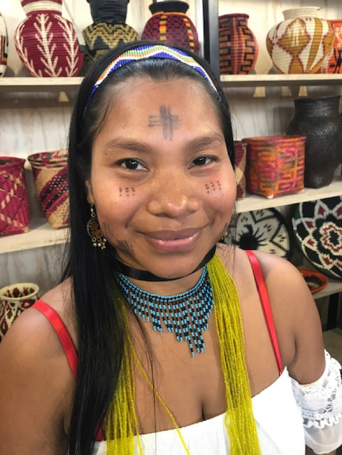 Indigenous Colombian woman