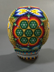 Huichol art skull back view