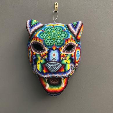 Huichol art feline