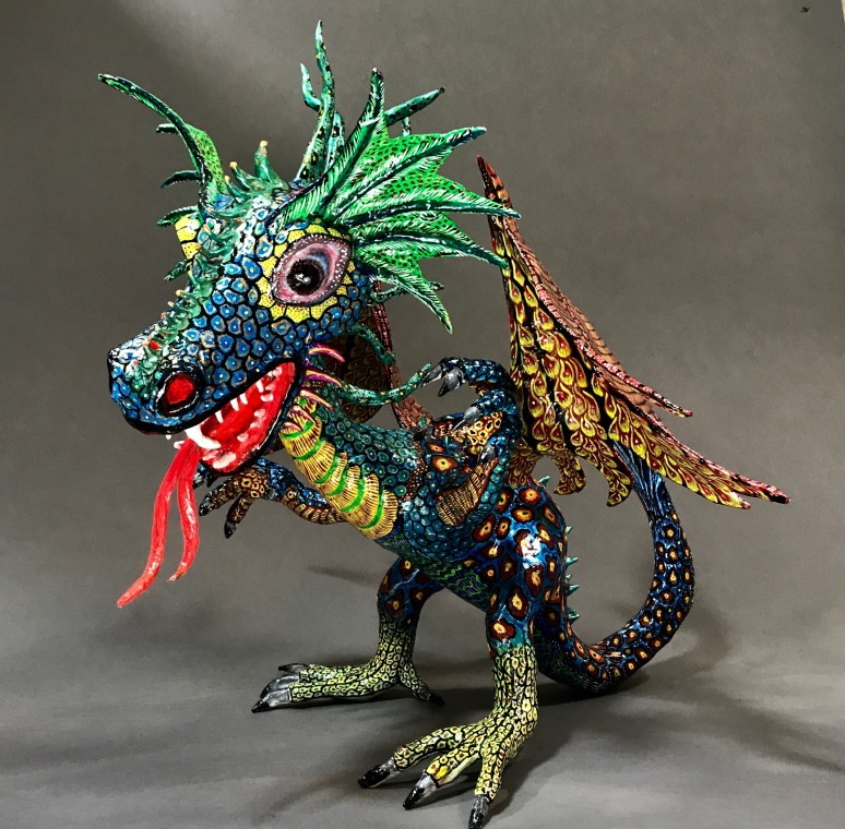 Paper Mache Alebrije Dragon