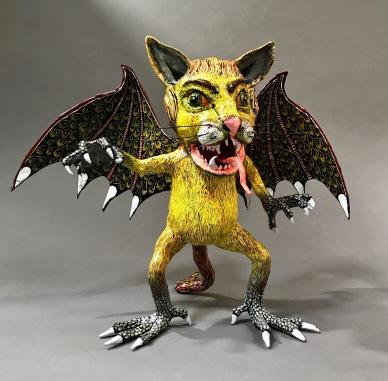 Paper Mache Alebrije Tiger Bat