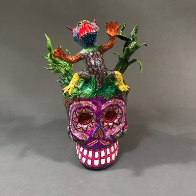 Skull with alebrije