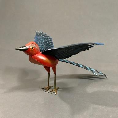 Tin red bird