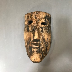 Antique Guerrero Mask Danza Gachupín Early 20th Cent.