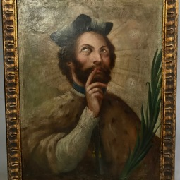 San Juan Nepomuceno 18th Cent. Oil on Canvas Fully Restored in new frame