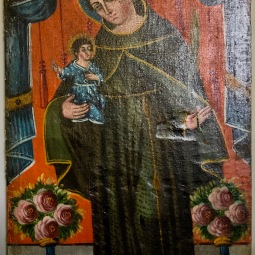 San Antonio de Padua Oil on Canvas 18th Century Santo